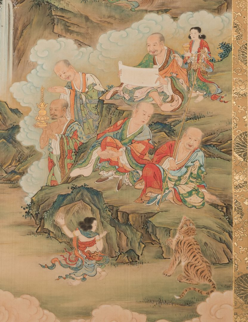 Lot 17: Buddhist T'aenghwa Scroll