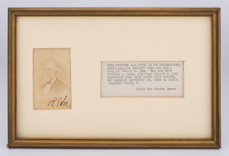 Lot 218: Robert E. Lee signed CDV, Lexington
