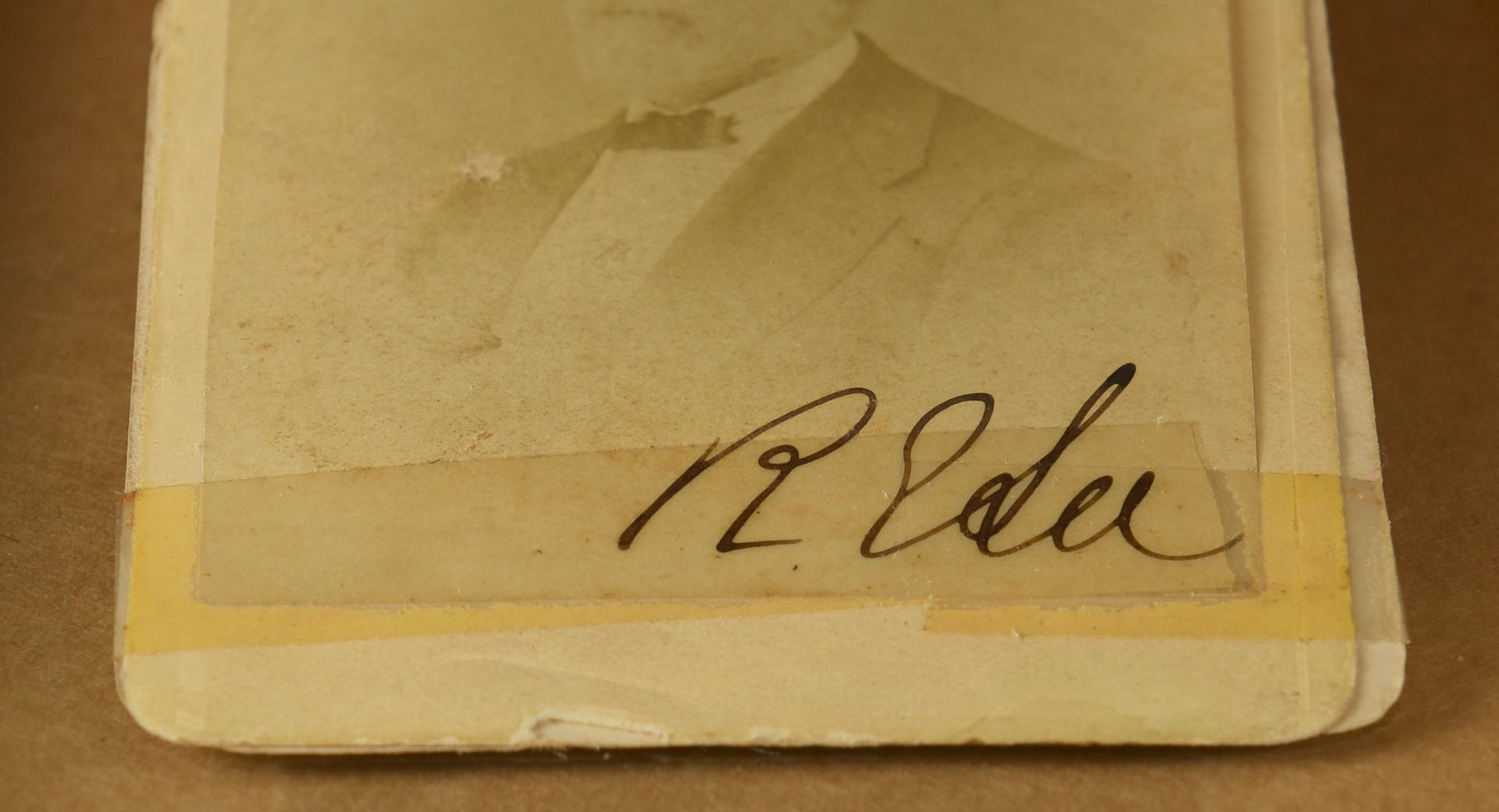 Lot 218: Robert E. Lee signed CDV, Lexington