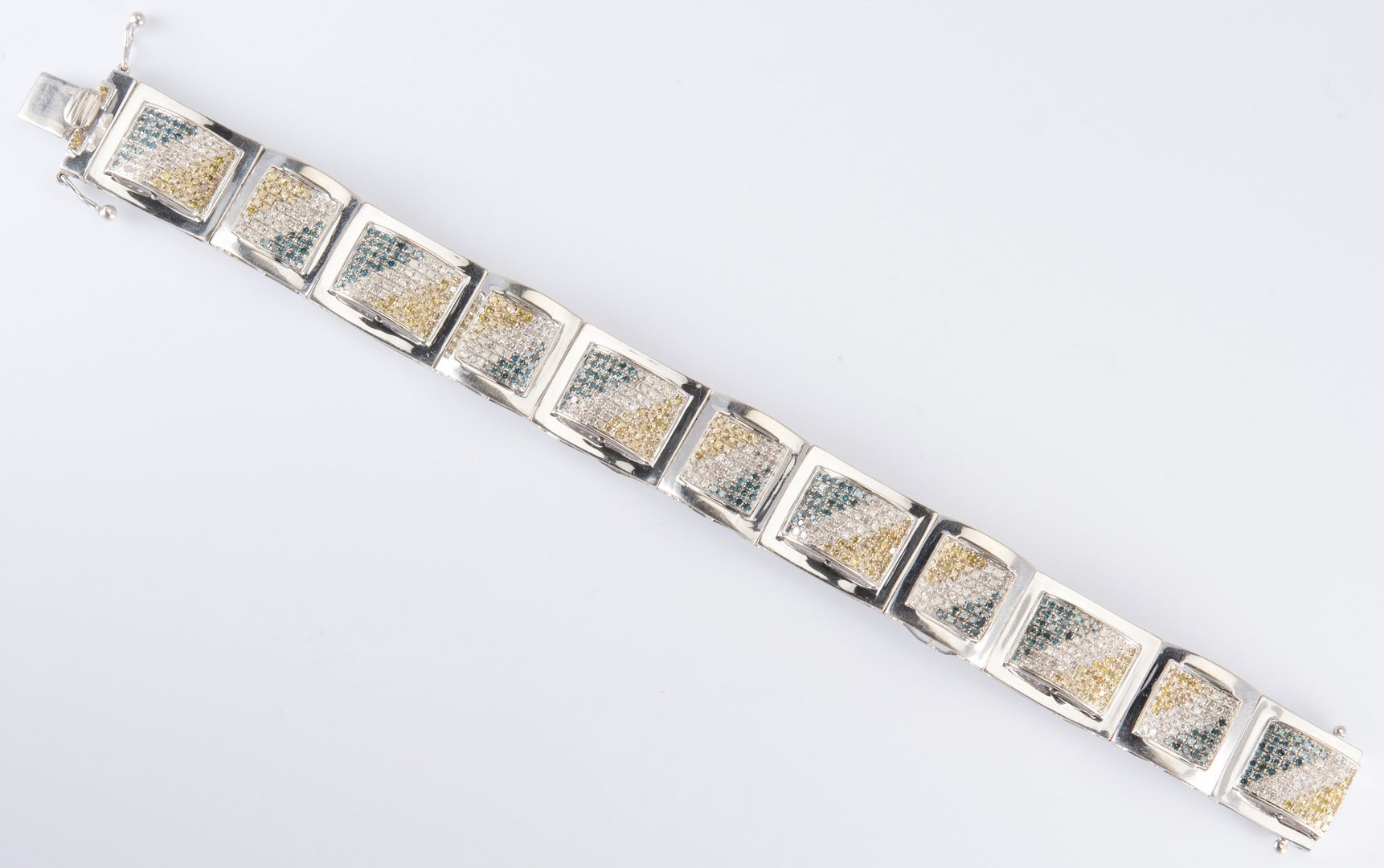 Lot 327: 14K Colored Diamond Bracelet by Freeze