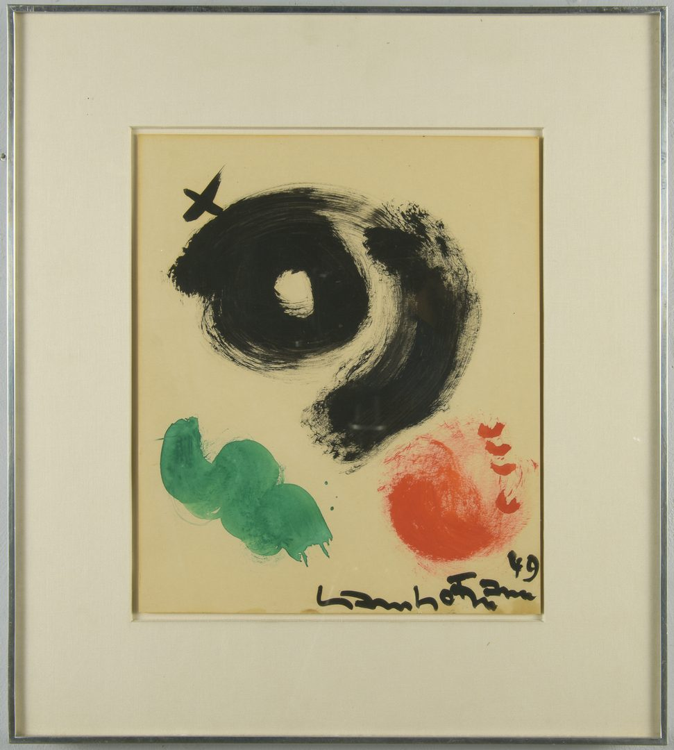 Lot 397: Hans Hofmann, Gouache on Paper, Abstract