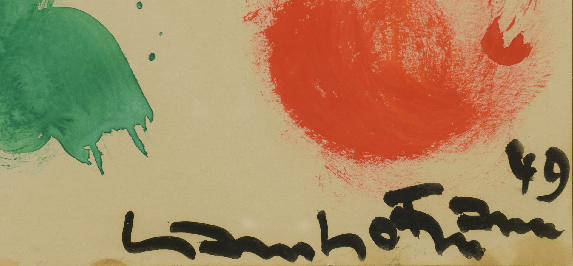 Lot 397: Hans Hofmann, Gouache on Paper, Abstract