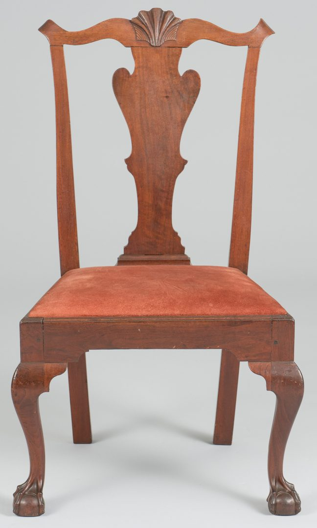 Lot 483: Near Pair of Chippendale Philadelphia Chairs