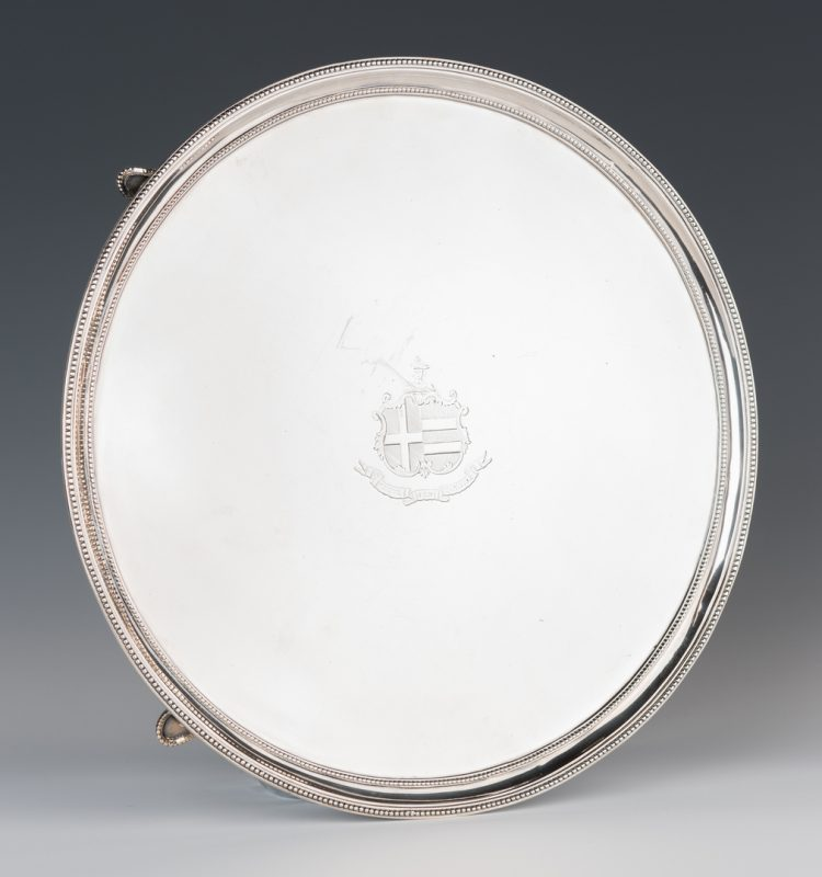 Lot 65: Geo. III sterling salver, Chawner