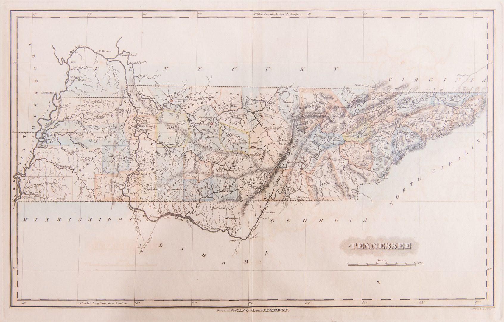 Lot 194: TN Map 1822, Lucas, Welch