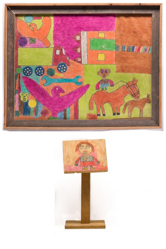 Lot 195: 2 Raymond Close Folk Art Items