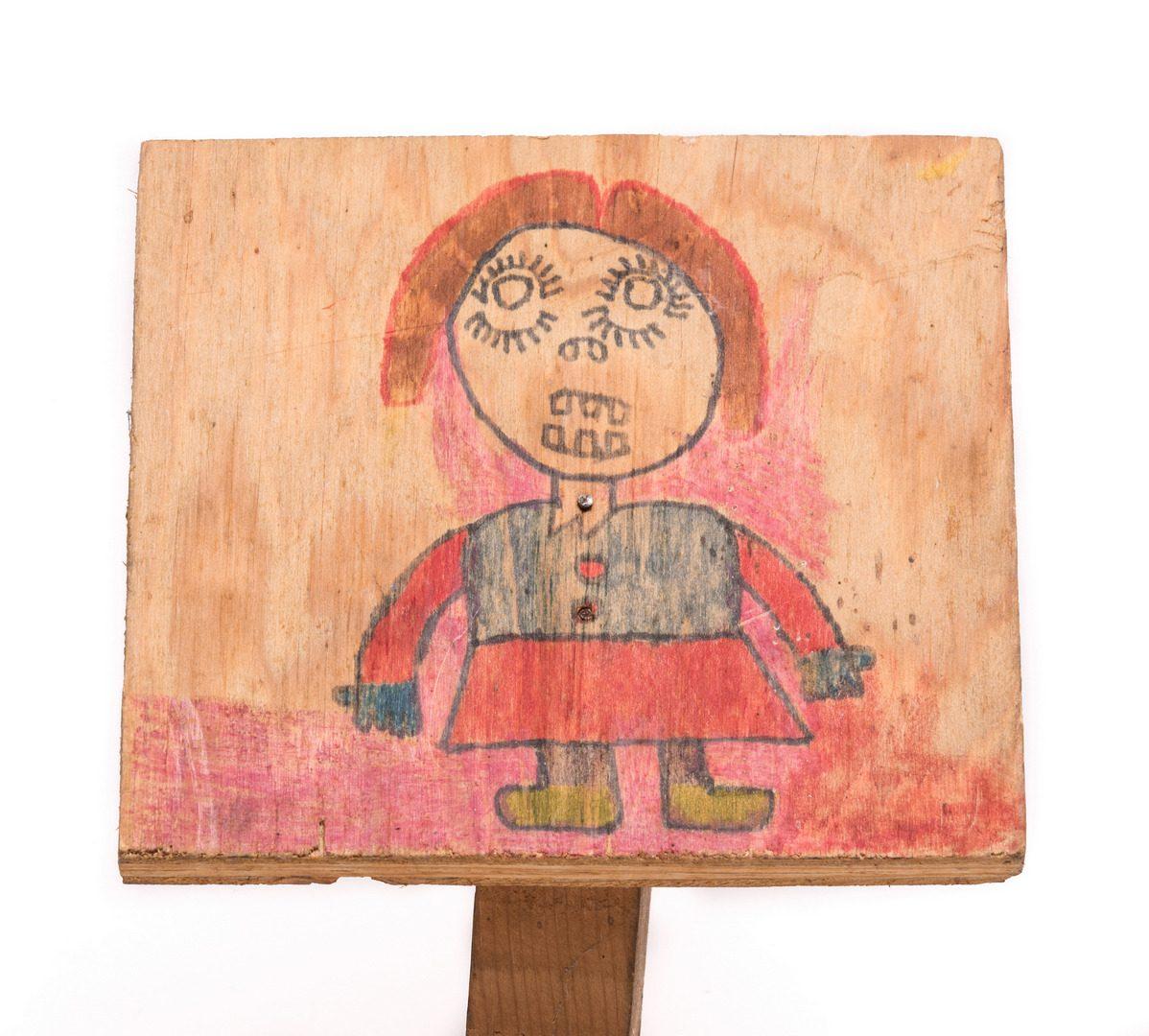 Lot 195: 2 Raymond Close Folk Art Items
