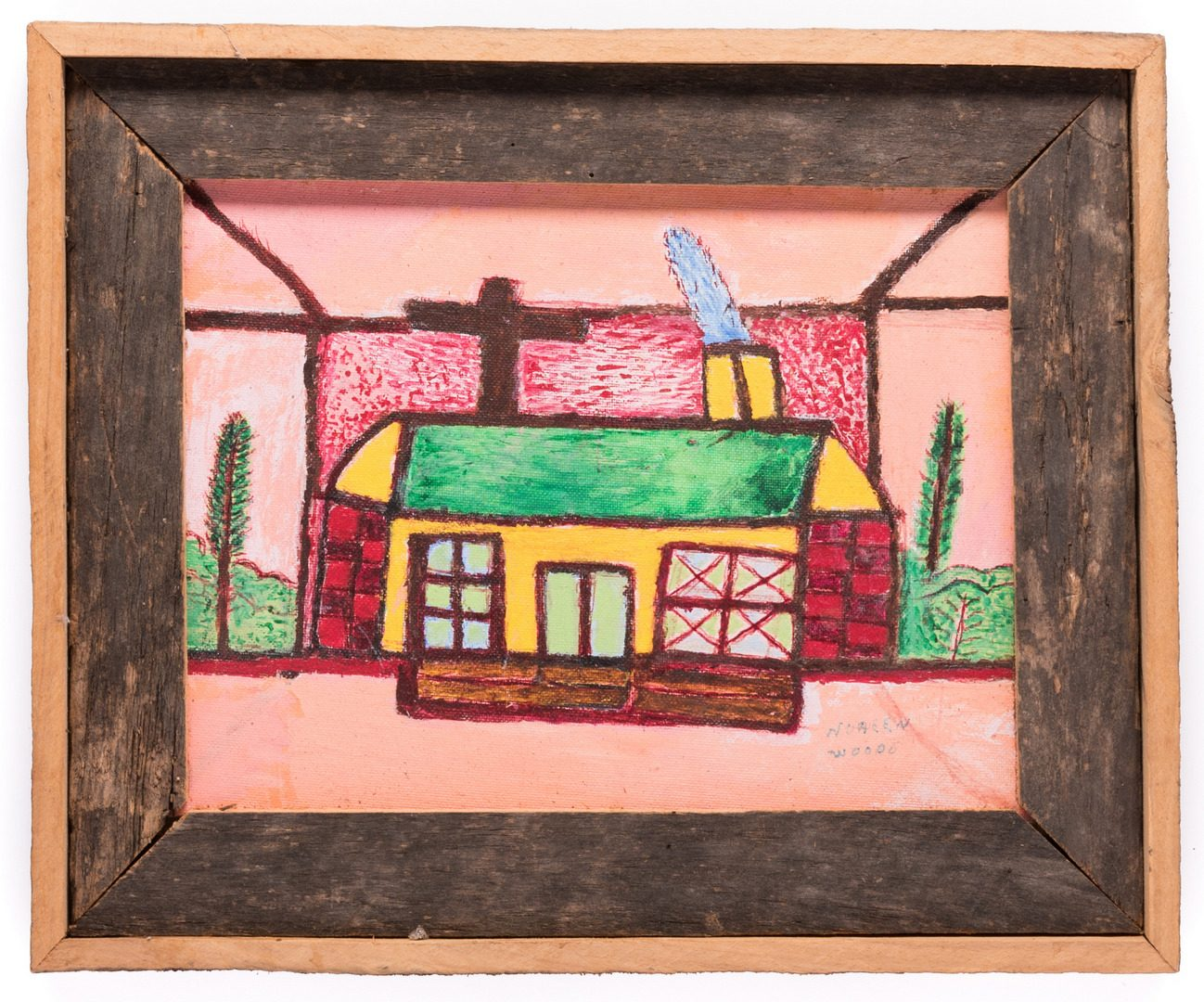 Lot 196: 3 Folk Art Paintings, inc. Bissonnette, Wood