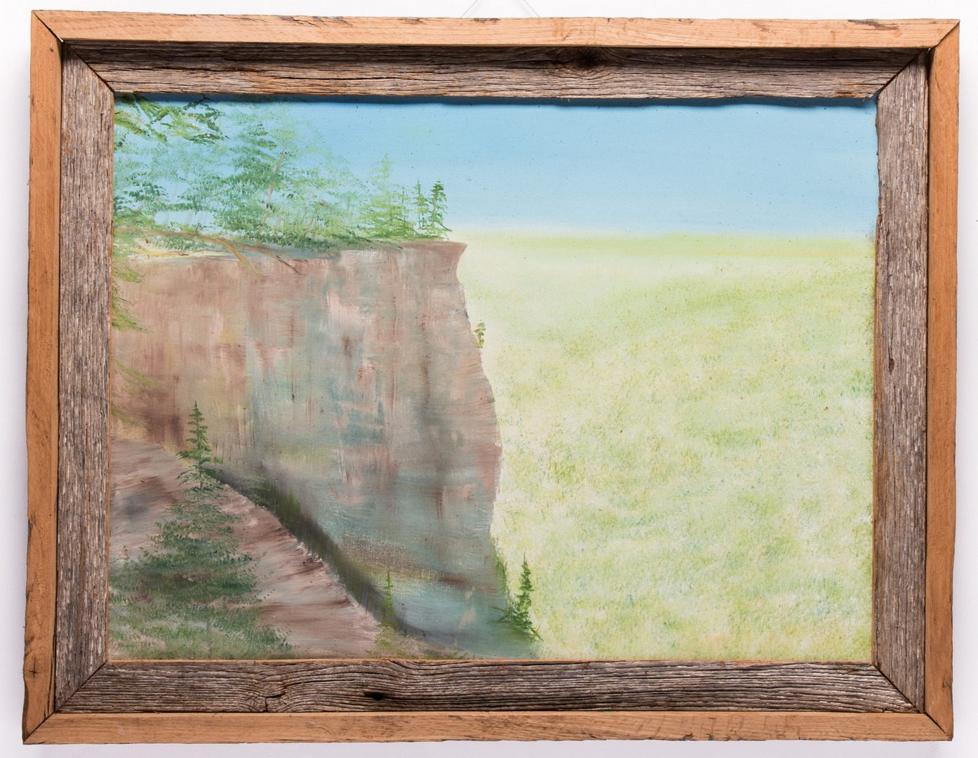 Lot 196: 3 Folk Art Paintings, inc. Bissonnette, Wood