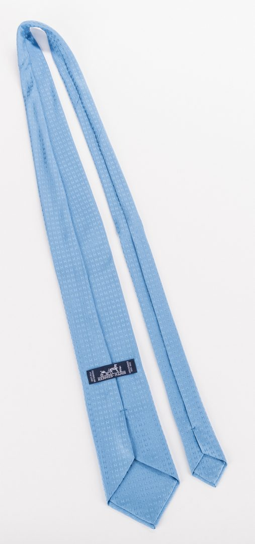 Lot 836: Hermes Ladies Silk Scarf & 2 Men's Ties, 3 items