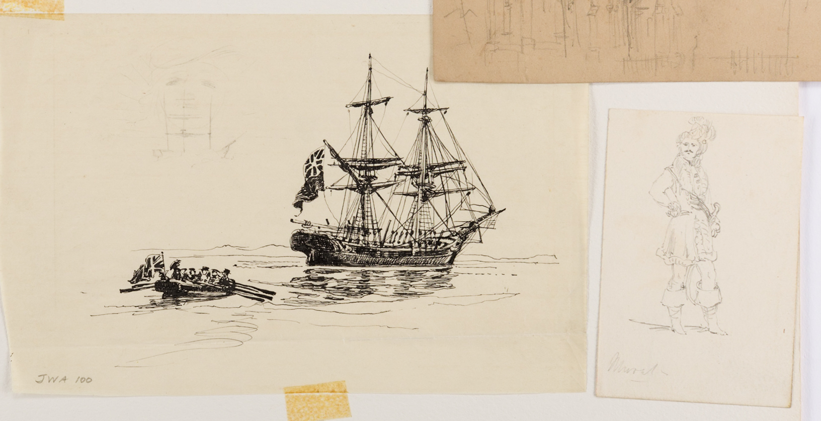 Lot 749: Archive of Alfred Waud Sketches and Notes, 50 plus items