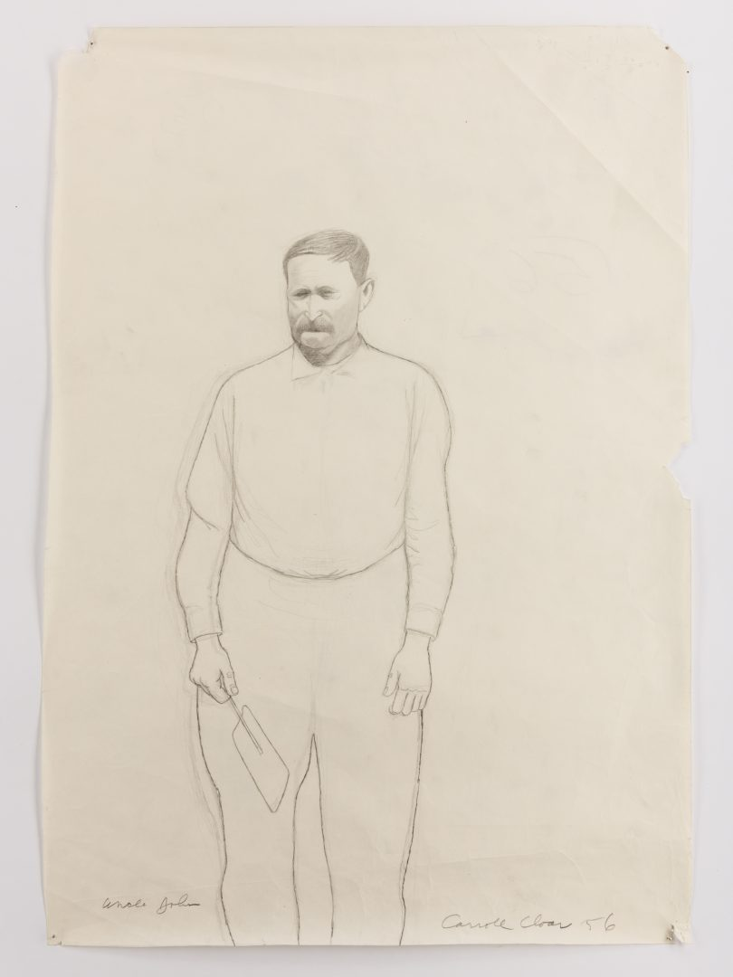 "Lot 129: 2 Carroll Cloar Drawings ""Uncle John"" and ""Aunt Fanny"""