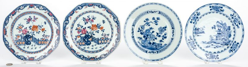 Lot 22: 4 Chinese Export Porcelain Plates
