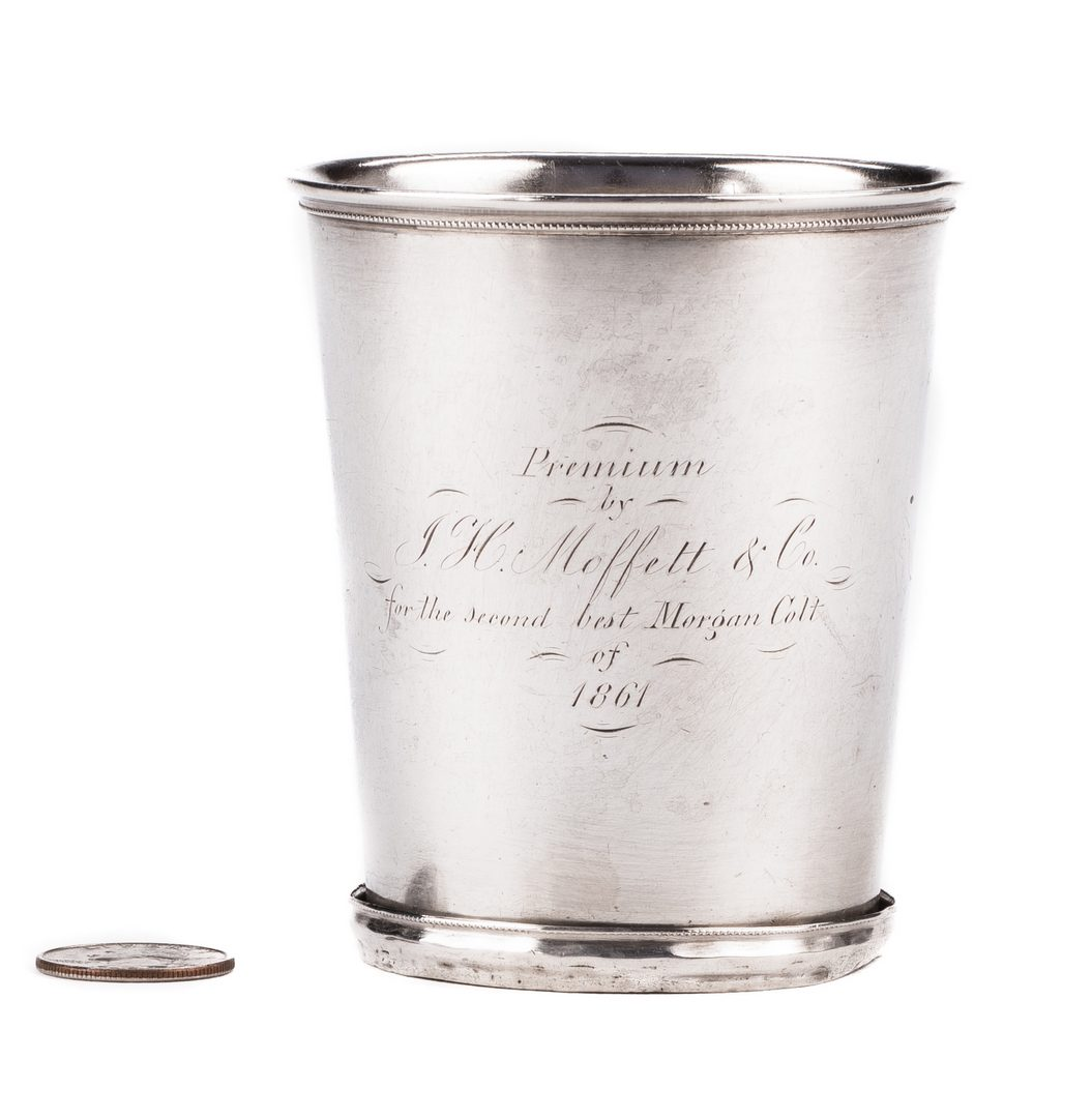 "Lot 270: KY Coin Silver Julep Cup, Prize for ""2nd Best Morgan Colt"""