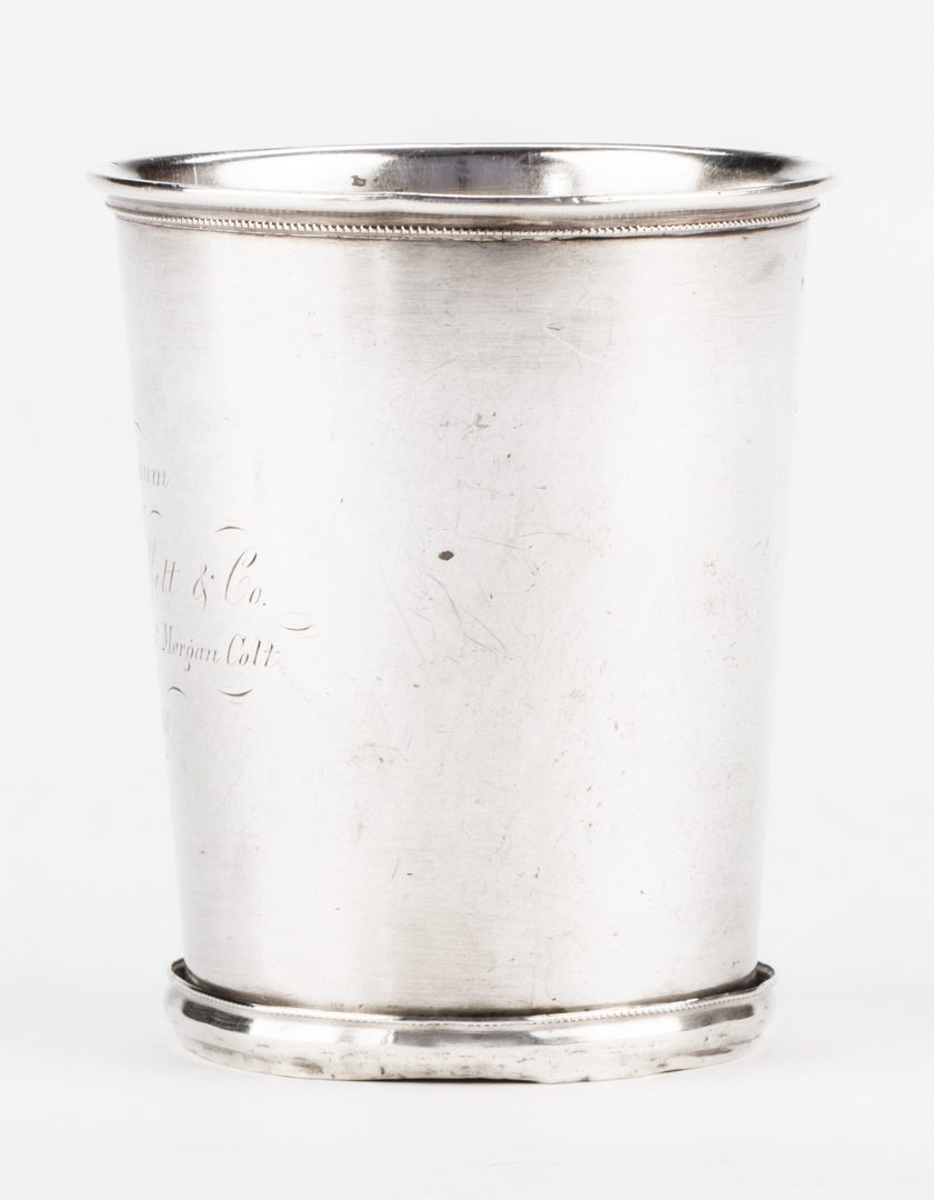 """Lot 270: KY Coin Silver Julep Cup, Prize for """"2nd Best Morgan Colt"""""""