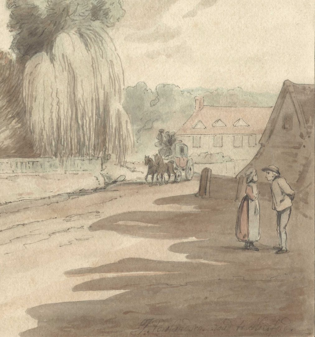 Lot 154: Thomas Rowlandson, W/C, Road to Abesford
