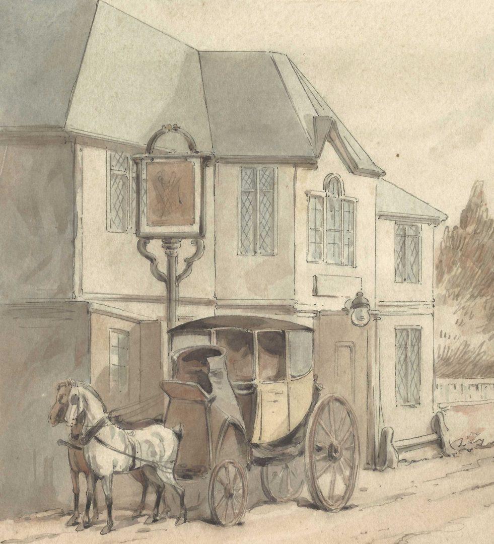 Lot 154: Thomas Rowlandson, W/C, Road to Abesford