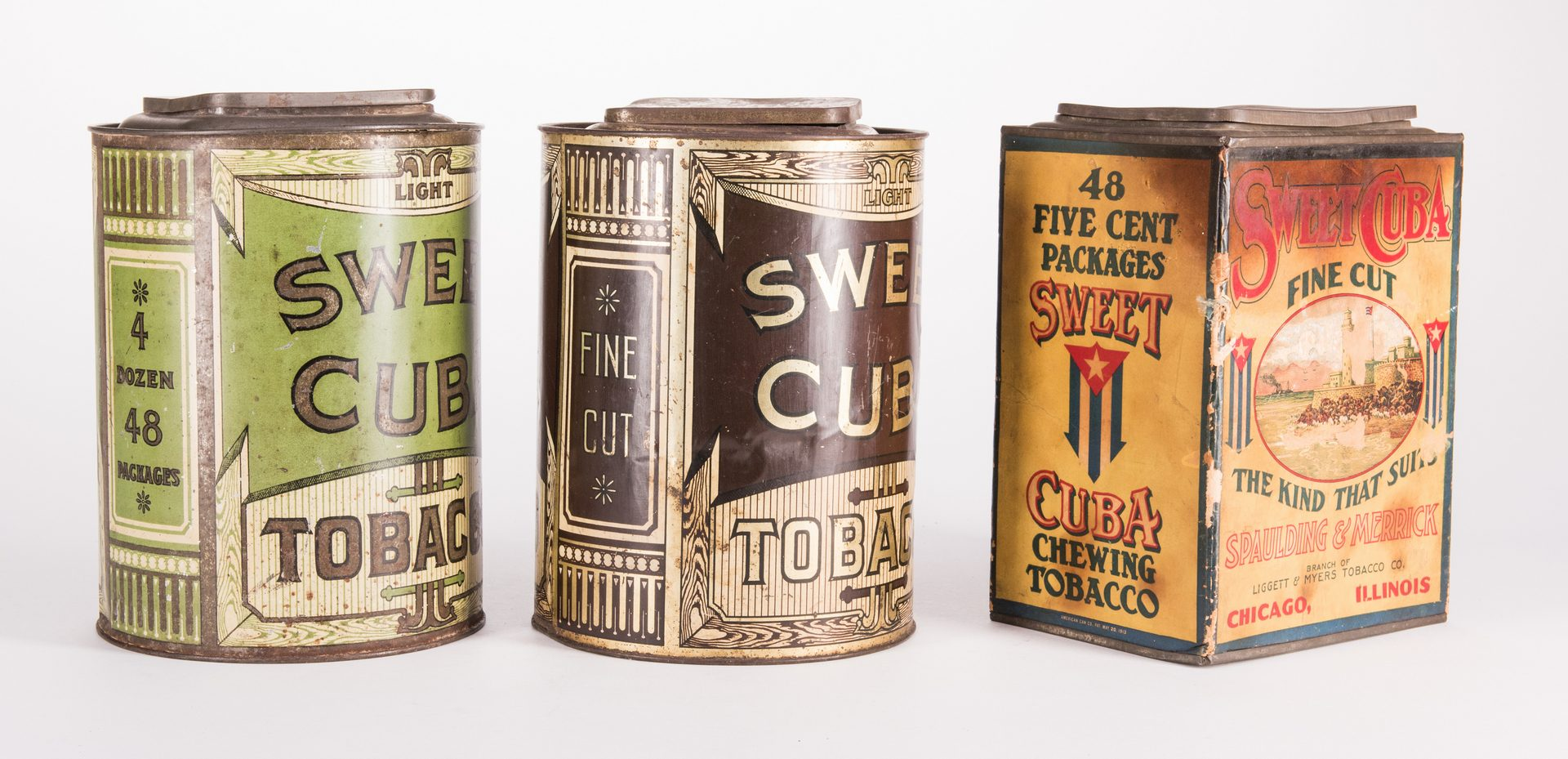 Lot 803: 5 Sweet Cuba Advertising Tobacco Tins