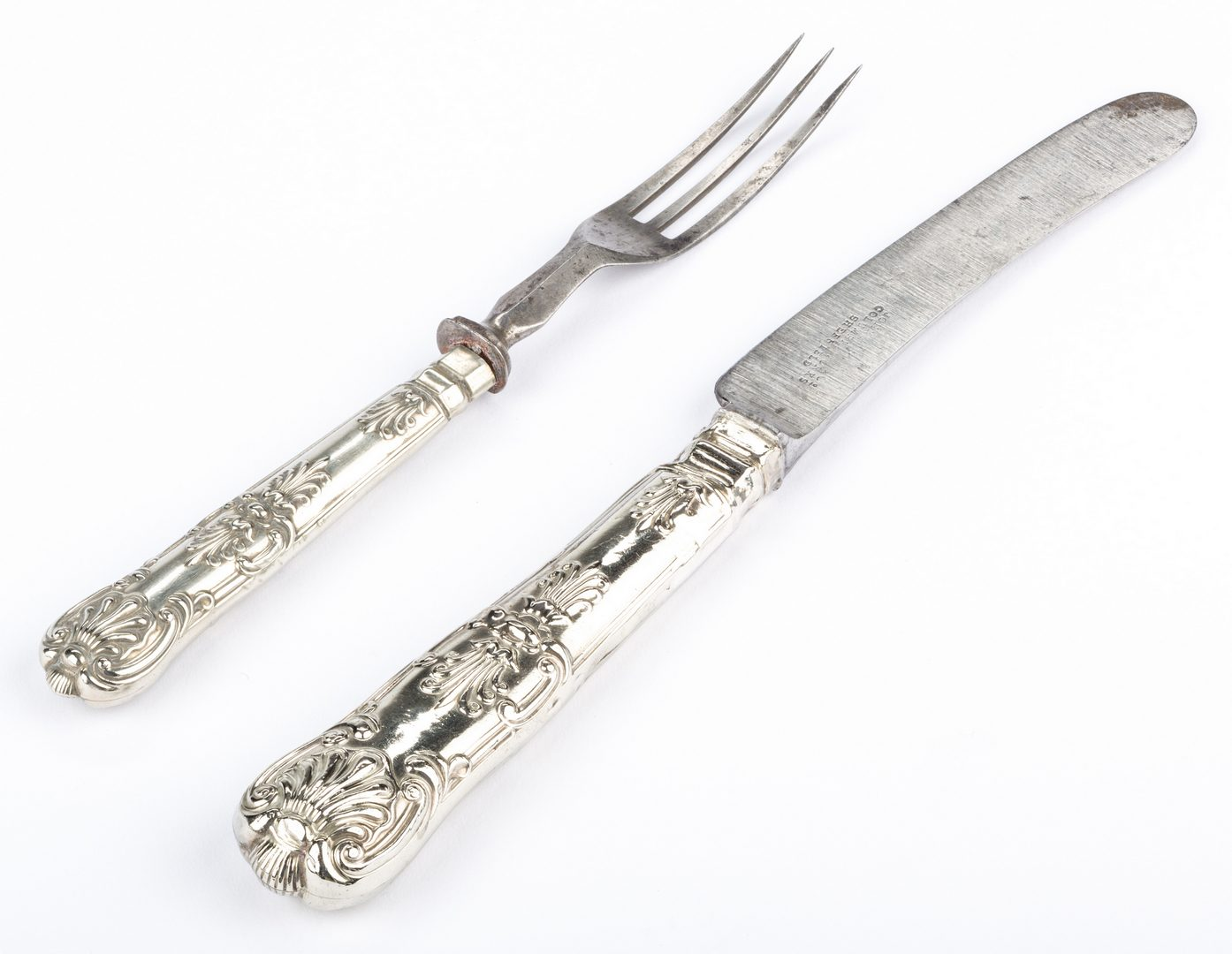 Lot 87: Knife and Fork, possibly Andrew Jackson's, 2 items
