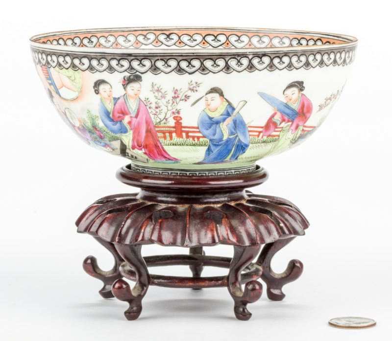 Lot 14: Chinese Fencai Enamel Eggshell Bowl
