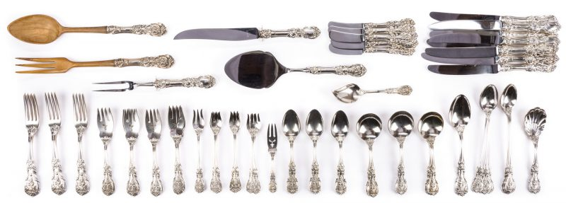 Lot 71: Francis I Sterling Flatware, 81 pcs
