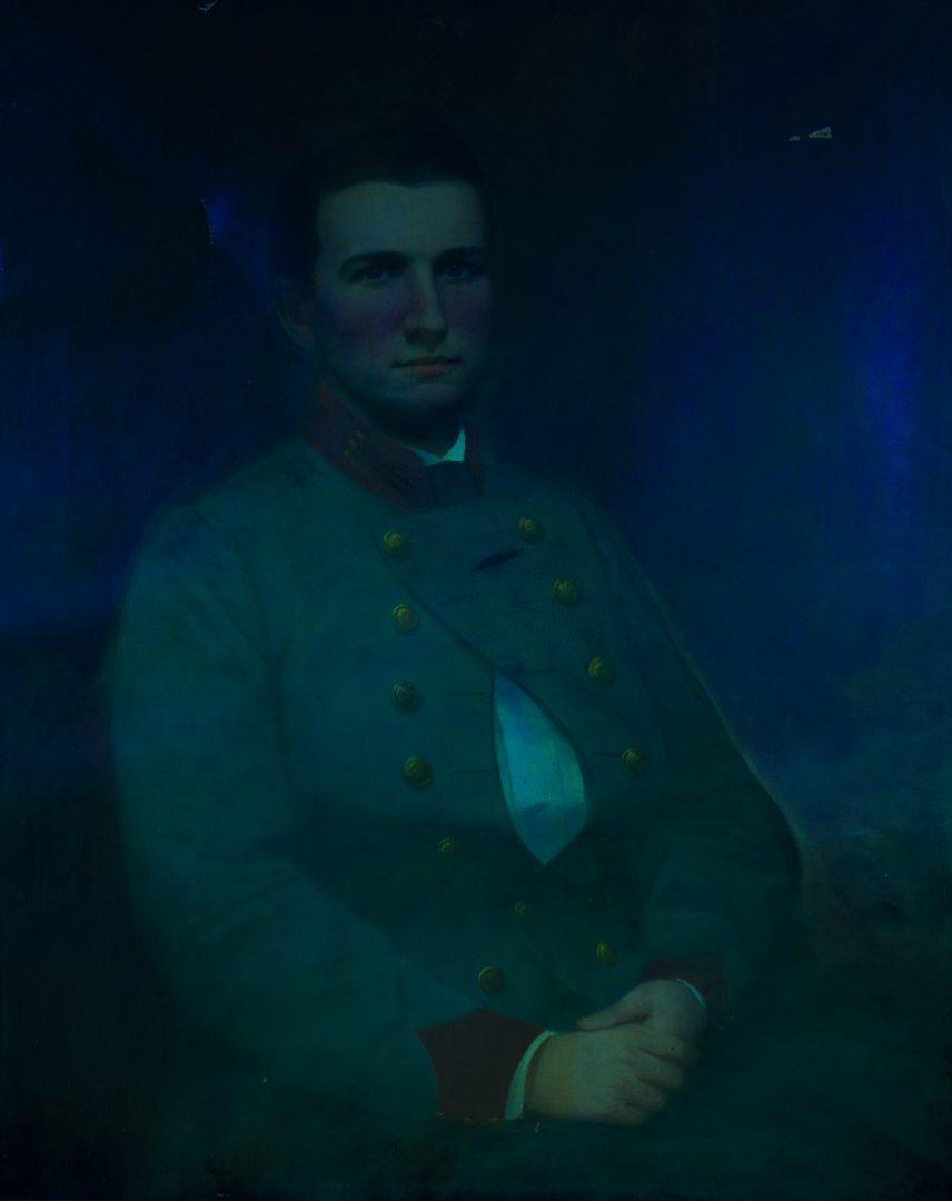 Lot 201: Portrait of Capt. Elisha Eldridge Wright, CSA, killed at Stone's River & Signed Shelby Foote Books