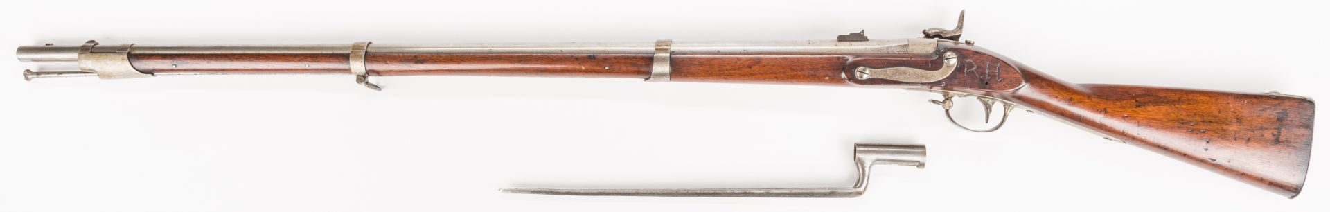 Lot 211: Harpers Ferry Model 1840 US Conversion Musket w/ Bayonet