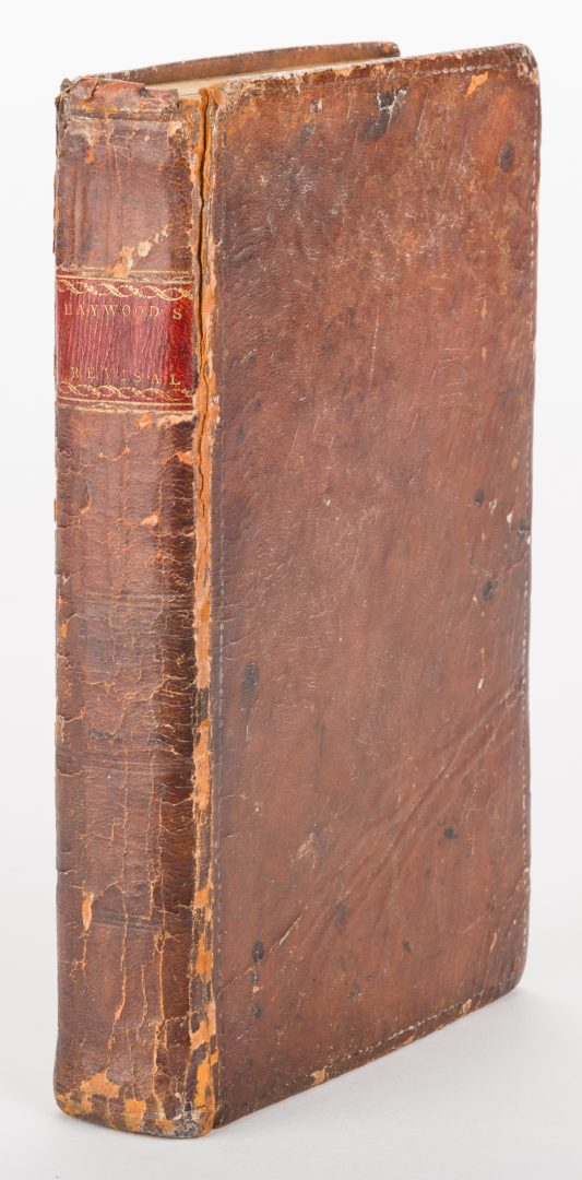 Lot 238: Revisal of All Public Acts of NC & TN, Haywood, 1809