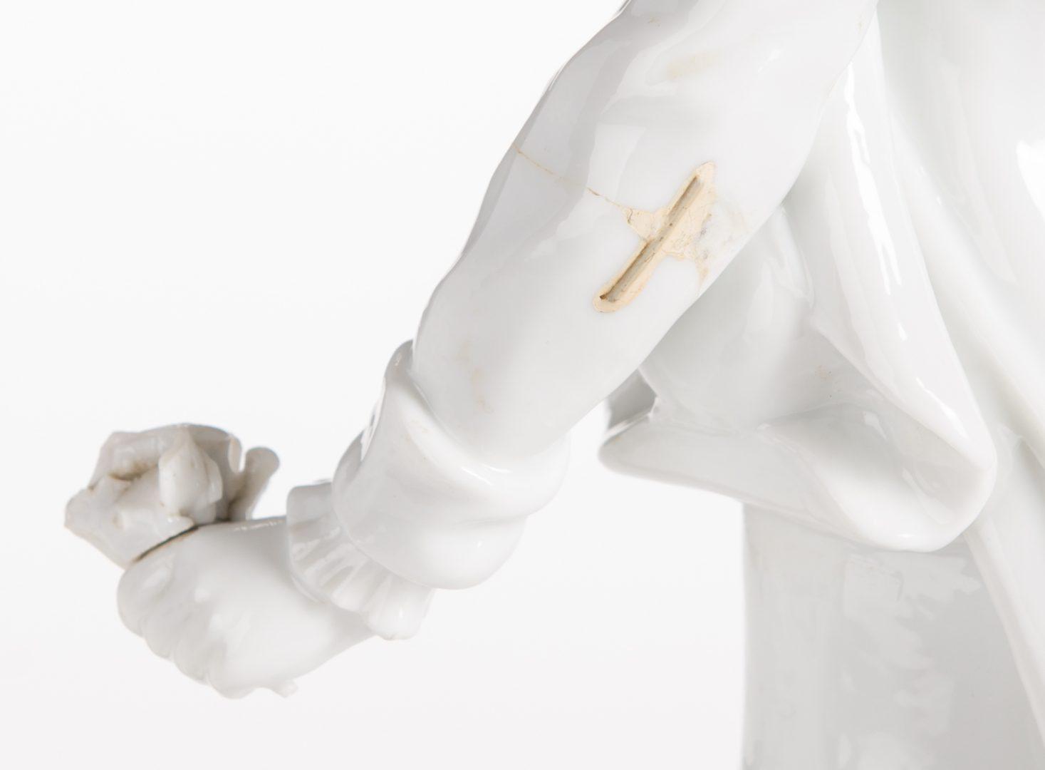 Lot 325: 3 Blanc de Chine Porcelain Figures, inc. Meissen