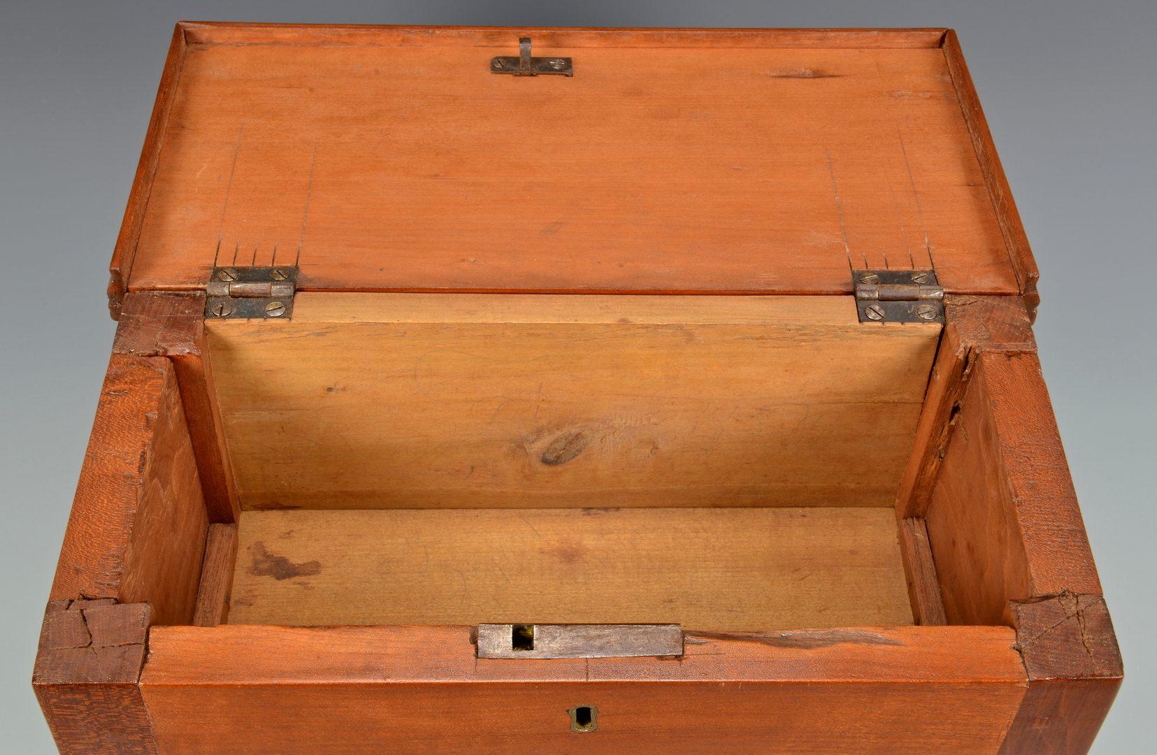 Lot 383: Miniature TN Blanket Box