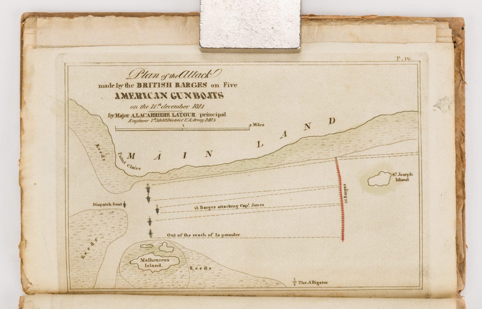Lot 422: Latour War in West Florida LA 1814-1815, w/ Atlas