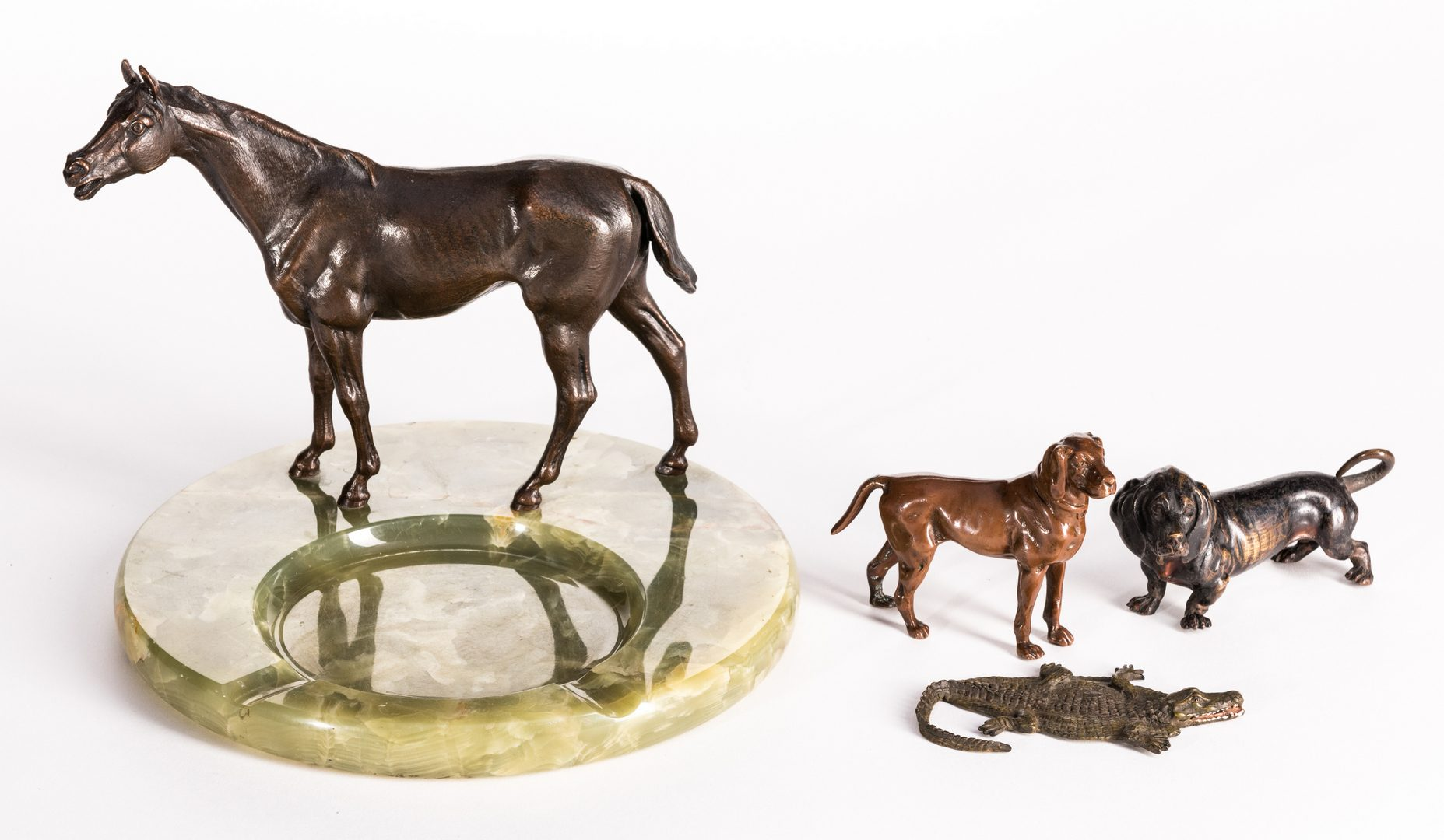 Lot 95: 4 Bronze Animal Figures