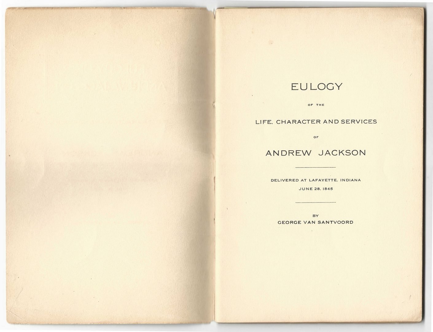 Lot 431: Collection of Andrew Jackson Eulogies, 10 items