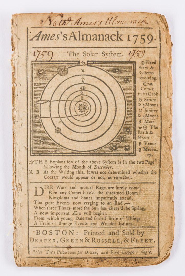 Lot 443: 14 Pre Rev. War Almanacks, 1752-1774