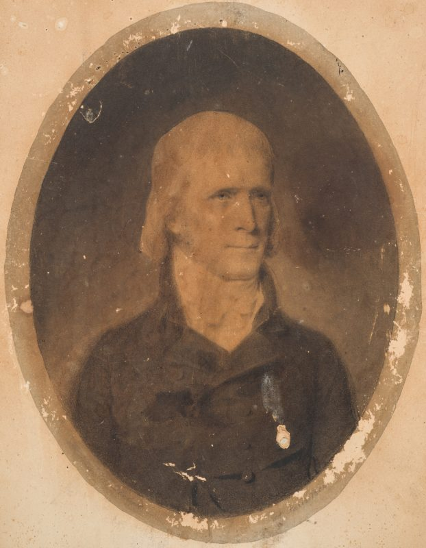Lot 438: John Vanderlyn 1804 Portrait, possibly Thomas Jefferson