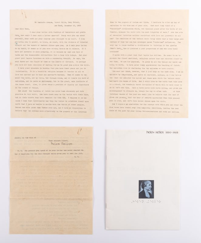 Lot 463: Helen Keller Signed Letter, Good Content