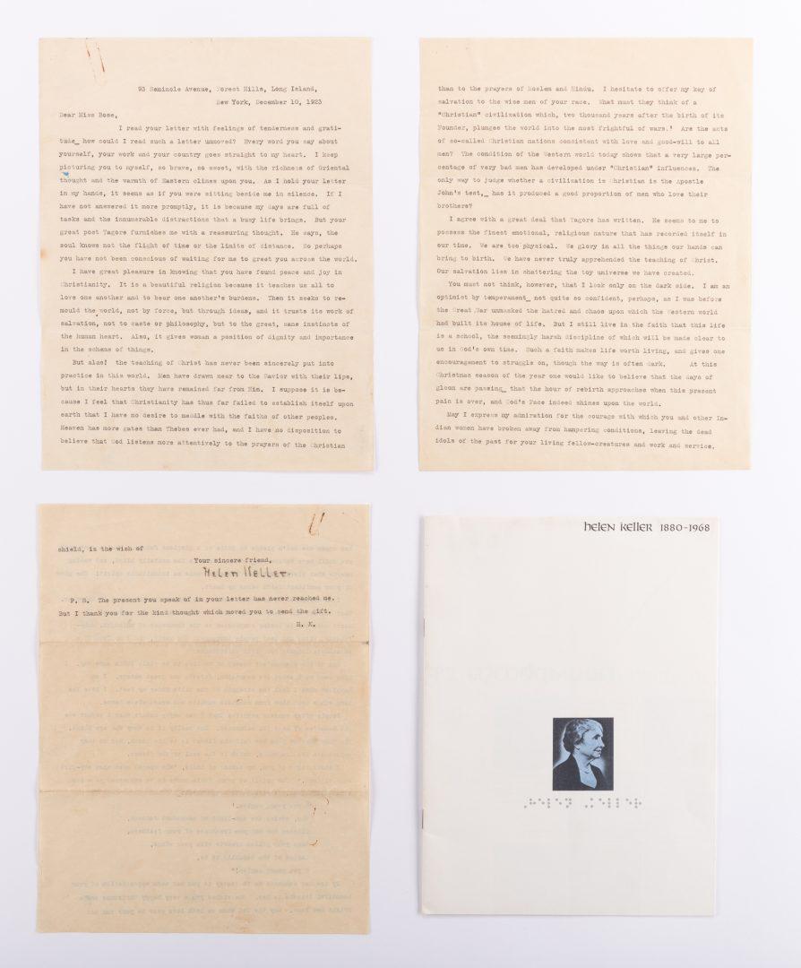 Lot 463: Helen Keller Signed Letter, Good Content