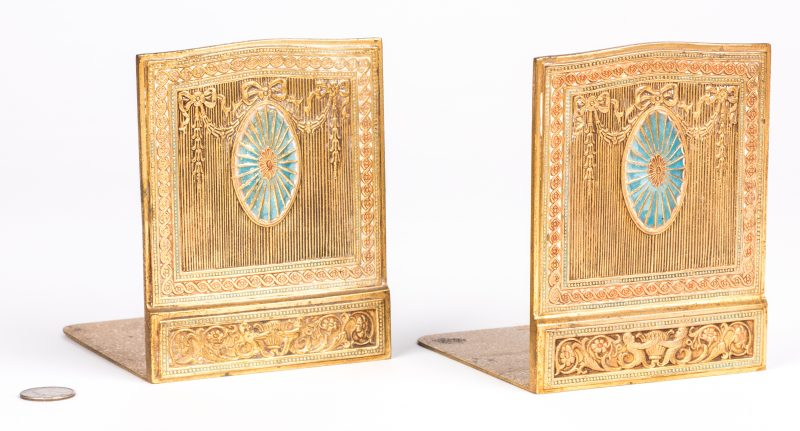 Lot 47: Tiffany Studios Gilt Bronze Bookends