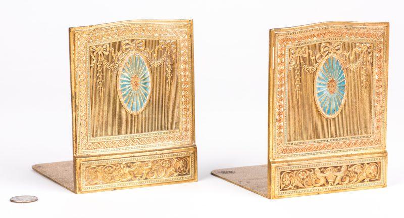 Lot 47: Tiffany Studios Gilt Bronze Bookends