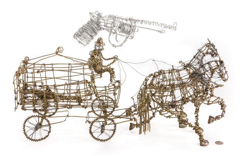Lot 584: 2 Vannoy Streeter Wire Sculptures