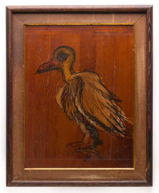 Lot 607: Giuseppe Napoli Painting, BirdBeast