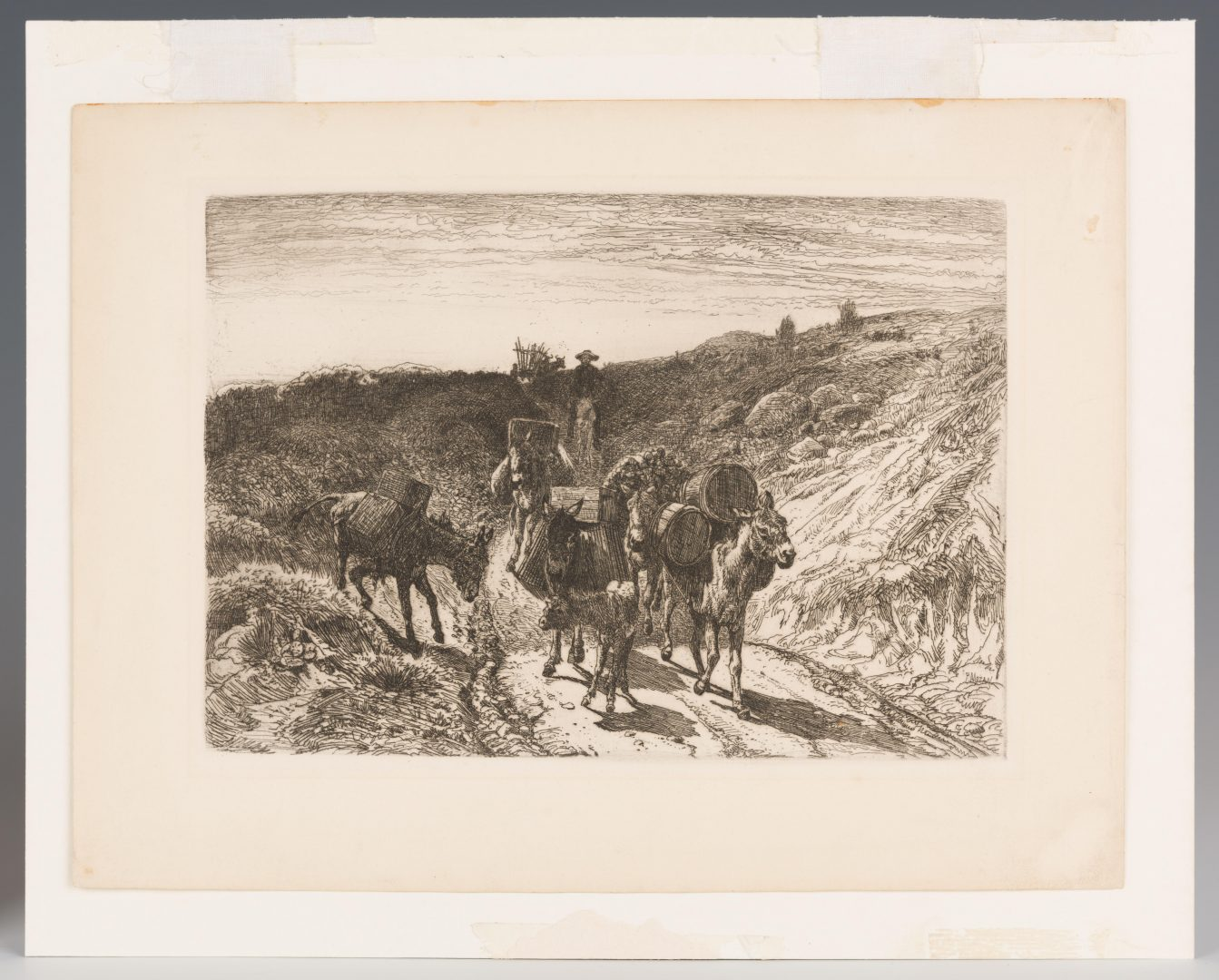 Lot 610: 2 Peter Moran Etchings