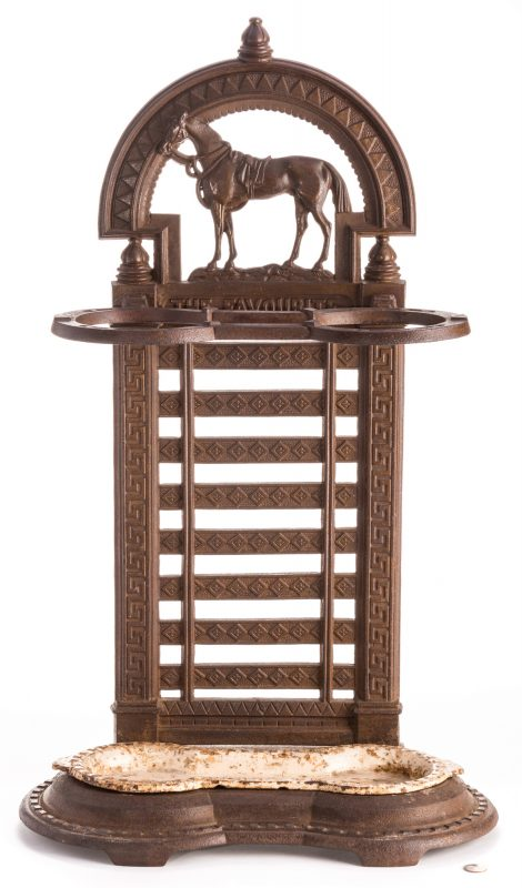 Lot 714: Victorian Cast Iron Horse Umbrella Stand