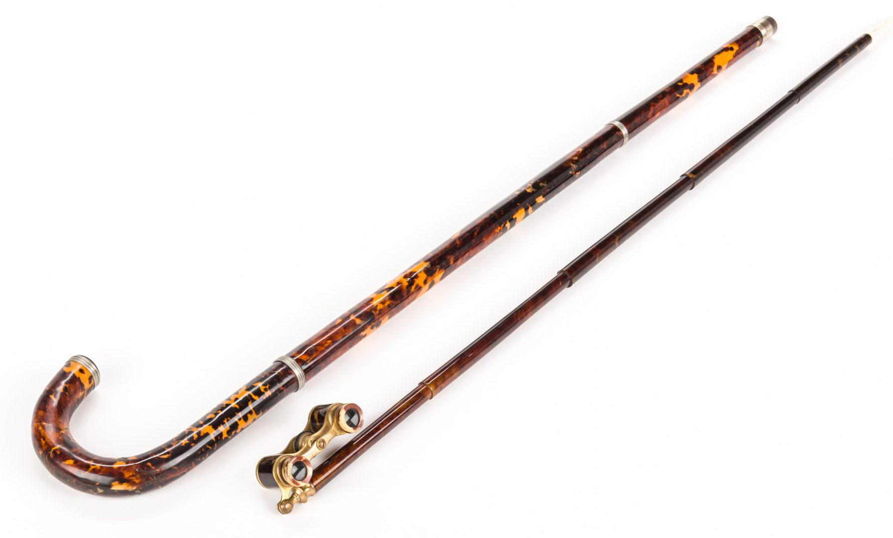Lot 716: 2 Tortoiseshell Walking Sticks
