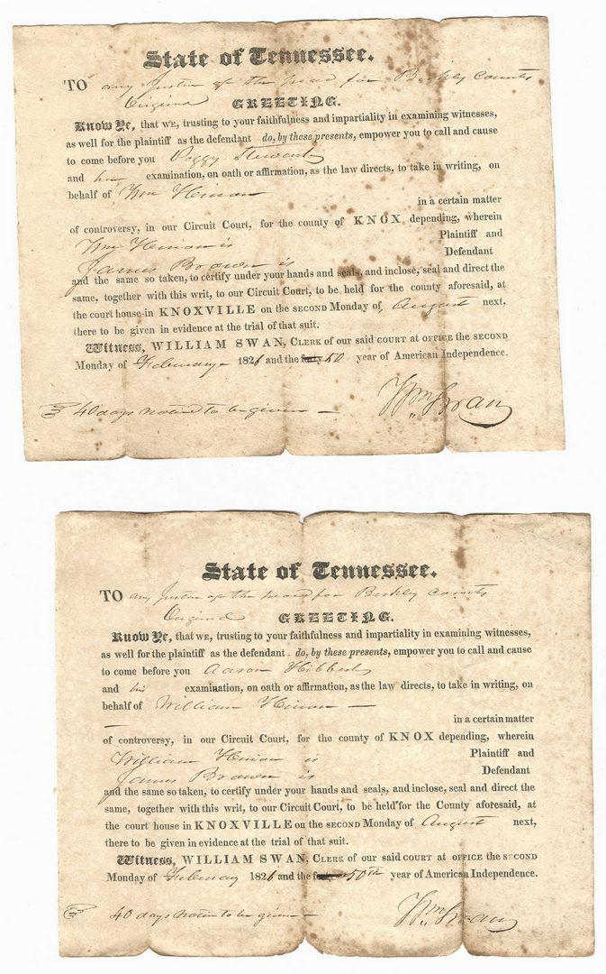 Lot 758: Large Early TN/VA Archive, 100 plus items