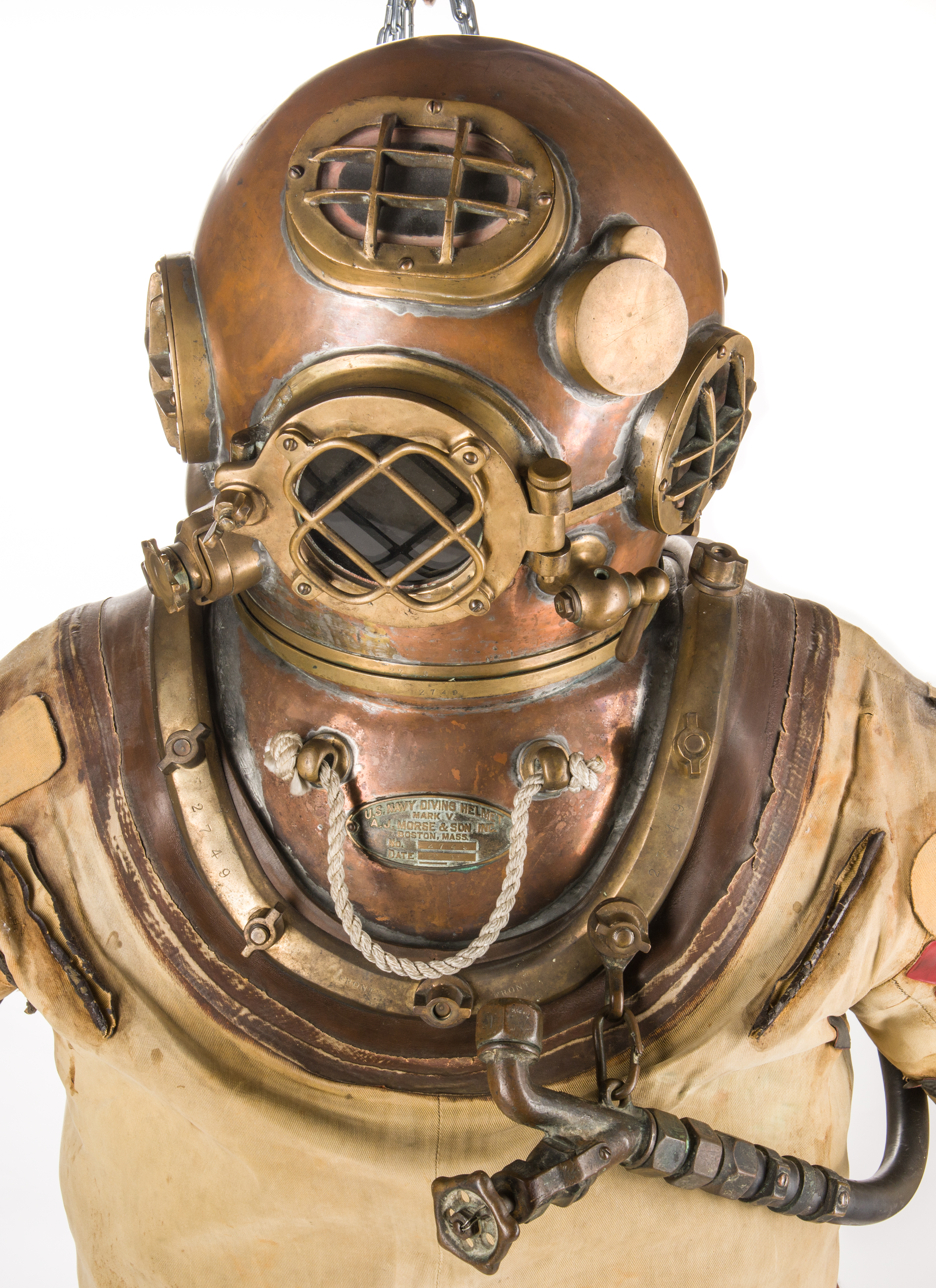 Lot 785 1939 U S Navy Morse Dive Helmet Amp Full Dive Suit