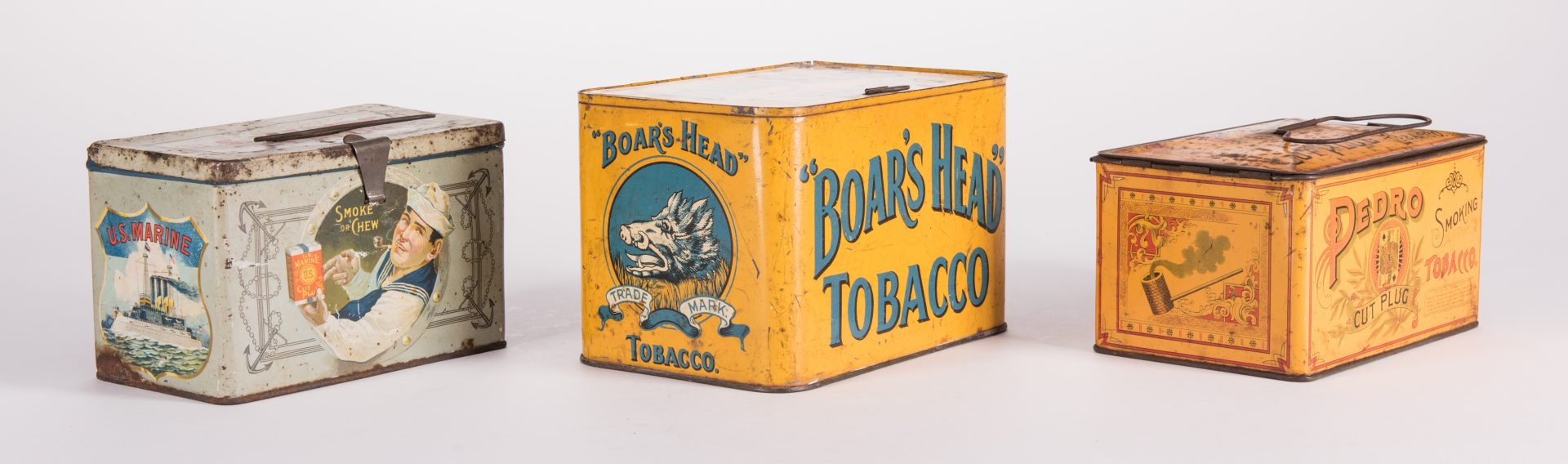 Lot 801: 9 Advertising Tobacco Ephemera, inc. Tins and Wrappers