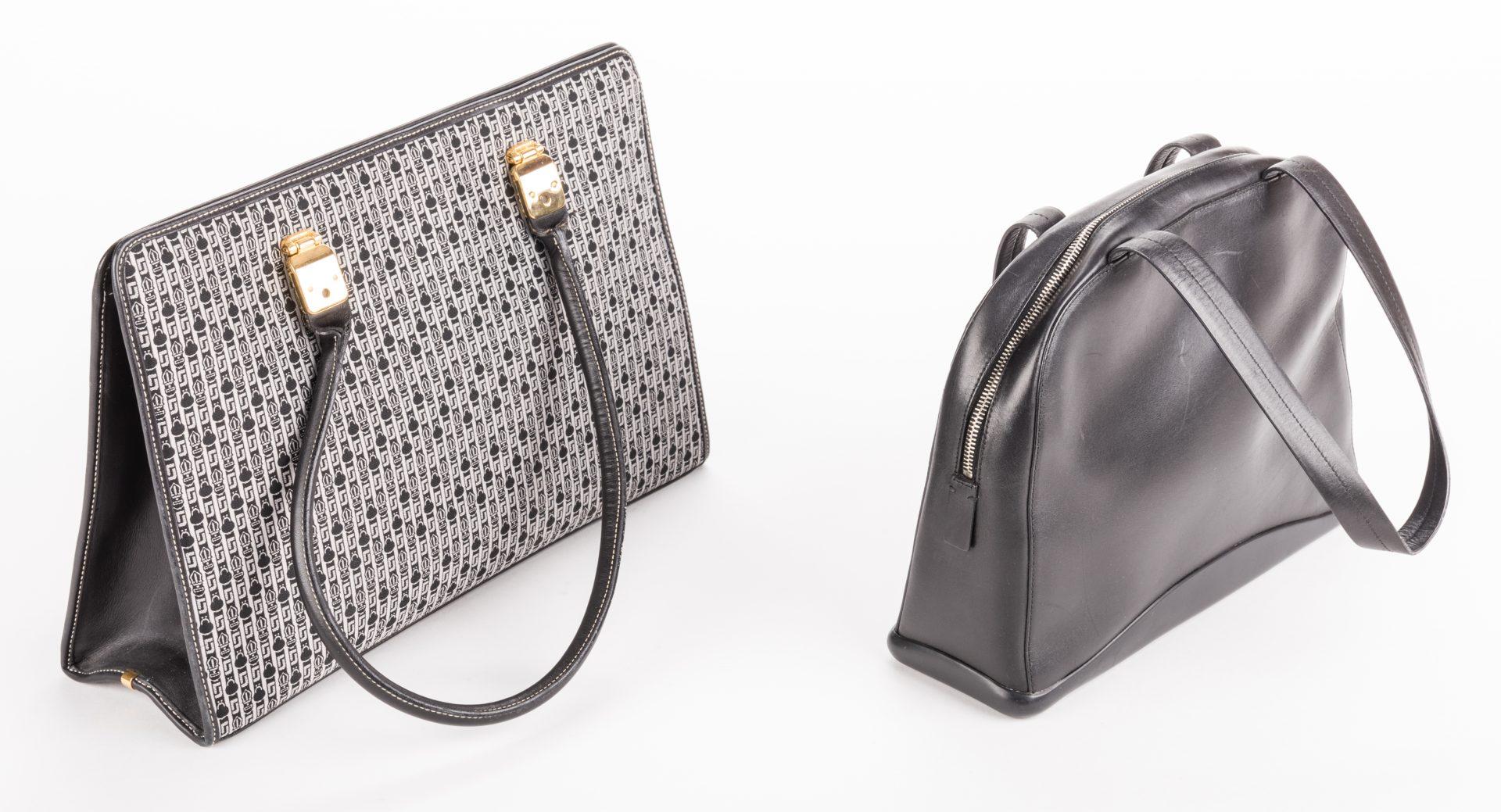 Lot 839: 2 Designer Handbags, inc. Judith Leiber and Prada.