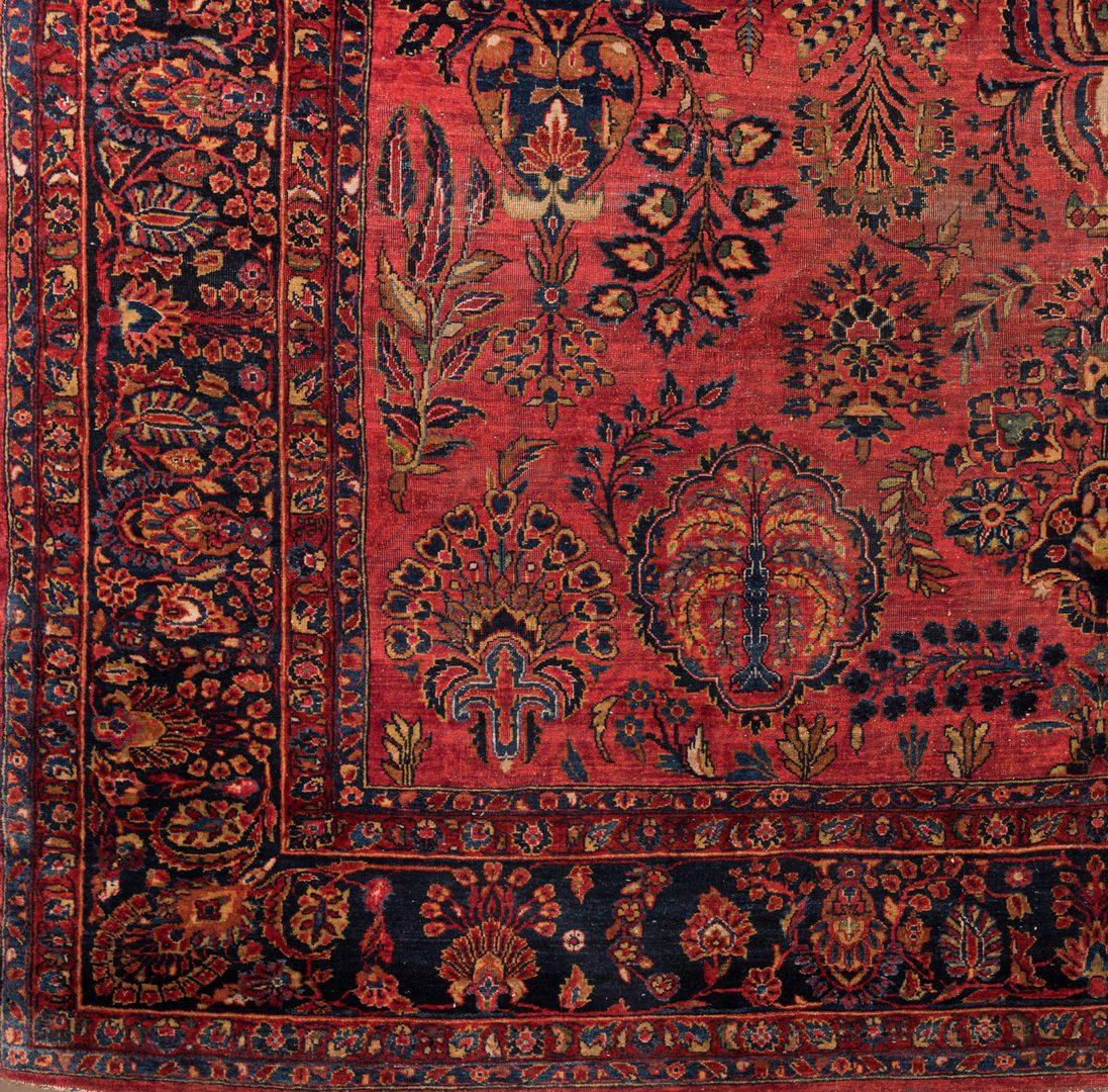 Lot 858: Semi-antique Persian Sarouk Carpet