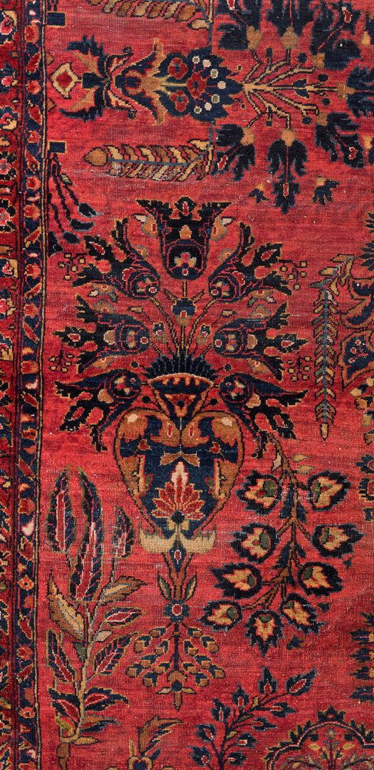 Lot 858: Semi-antique Persian Sarouk Carpet